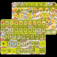 Easter Day Emoji Keyboard Skin