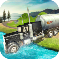Oil Tanker Truck Driving Simulator: Hill Transport