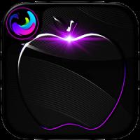 Crystal Black Apple Launcher Theme