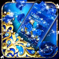 Blue Diamond Bow Theme
