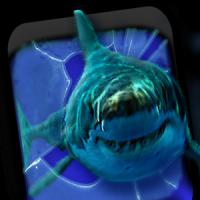 गुस्सा शार्क दरारें स्क्रीन