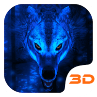 Hielo Lobo 3D Tema