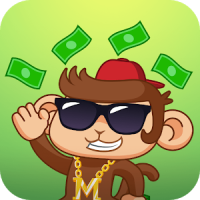 Swaggy Monkey Sticker for Messenger