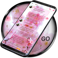 SMS Theme Love Cherry ❤️ pink flower messages