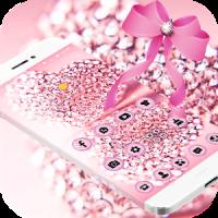 Pink Glitter Diamond Bowknot Theme
