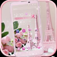 Pink Rose Eiffel Tower Theme
