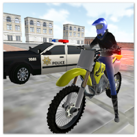 motocross racing star -ultimate police game