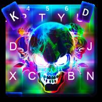 Smoke effect 3D Colorful Skull Keyboard