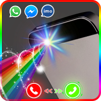 Color flash on call and sms: Color flash light