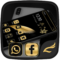 Black Gold Feather Theme