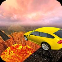 Wall Of Lava Volcano Cars 3D