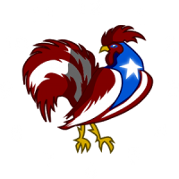 Puerto Rico Rooster Clock