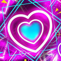 Neon Heart Lock Screen