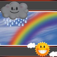 Rainbow Clock And Weather