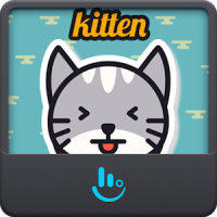 Cute Kitten Keyboard Sticker