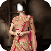 Women lehenga Choli costume montage photo frames