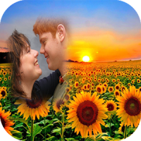 sunflower photo frames costume montage editor