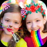 Crazy Rainbow Selfie Lense Camera Girl Makeup Cam