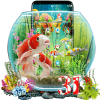 3D Aquarium Japaneses Koi Fish