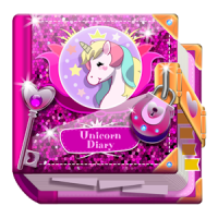 Unicorn Diary (with lock - password)