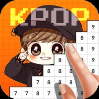 Kpop Idol Pixel Color Art Book 2019