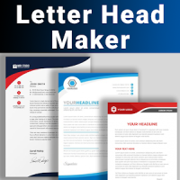 Letterhead Maker Business letter pad template Logo