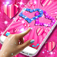 Live wallpapers Hearts for pink girls