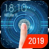 Space fingerprint style lock screen for prank