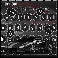 Luxury black sports car keyboard