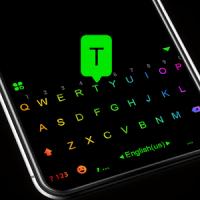 Led Neon Black Tema de teclado