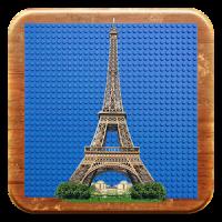 Eiffel Tower in bricks