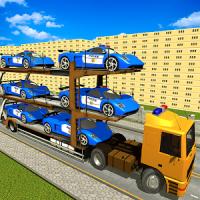 Police Car Transporter Simulator
