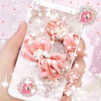 Diamond Lace Ribbon Theme pink bow