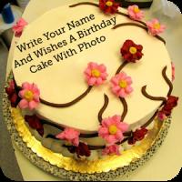 Name Photo On Birthday Cake Photo Frame