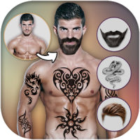 Man Tattoo and Hairstyle Photo Editor