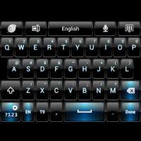 Black Blue theme for GO Keyboa