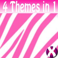 White Zebra Complete 4 Themes