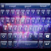 Glass Galaxy Emoji Keyboard