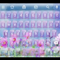 Glass PinkFlow2 Emoji Keyboard