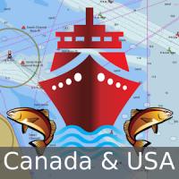 Canada:Marine Navigation Charts &Lake Fishing Maps